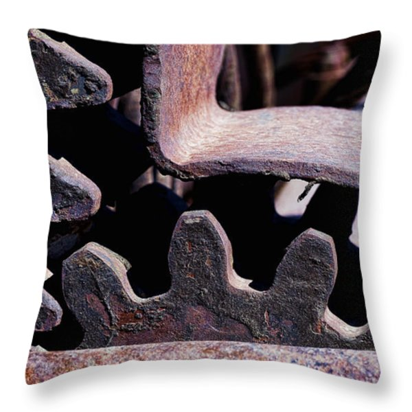 Machinery Throw Pillow by Kelley King