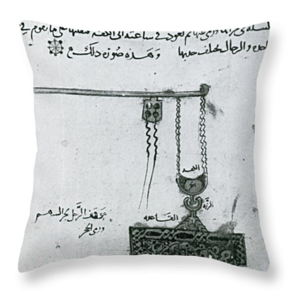 Machinery Of War, Trebuchet, 12th Throw Pillow by Photo Researchers