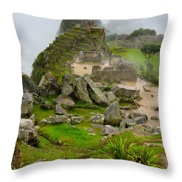 Machu Picchu Peru Throw Pillow by Andre Distel