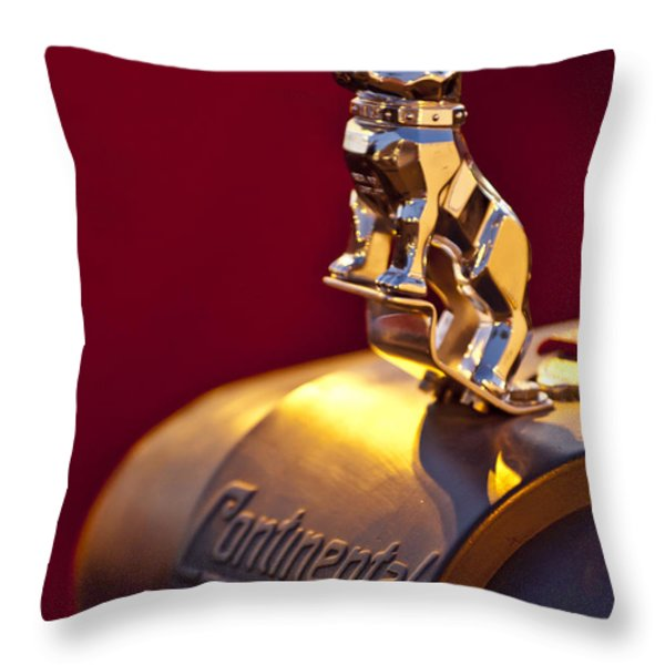 Mack Truck Hood Ornament Throw Pillow by Jill Reger