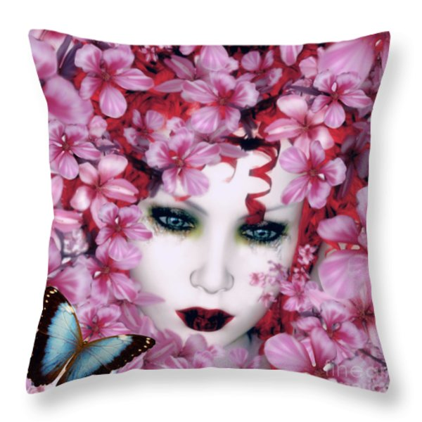 Madame Butterfly Throw Pillow by Shanina Conway
