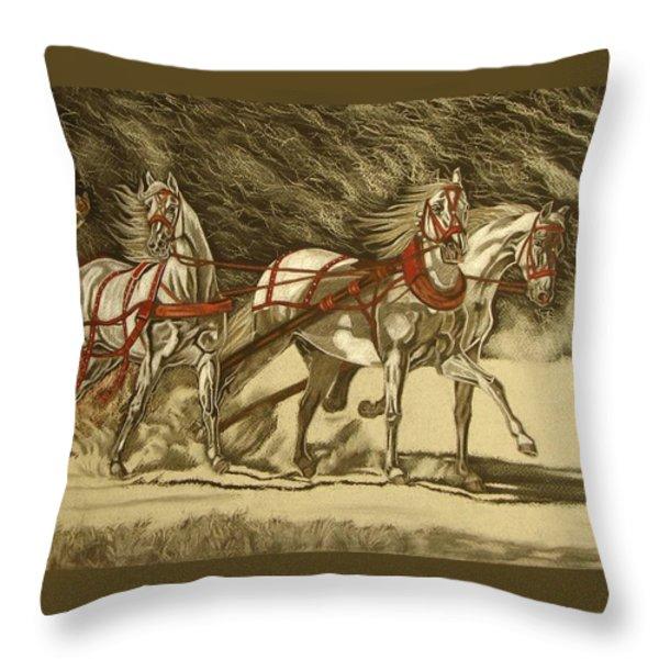 Magical Christmas Throw Pillow by Melita Safran