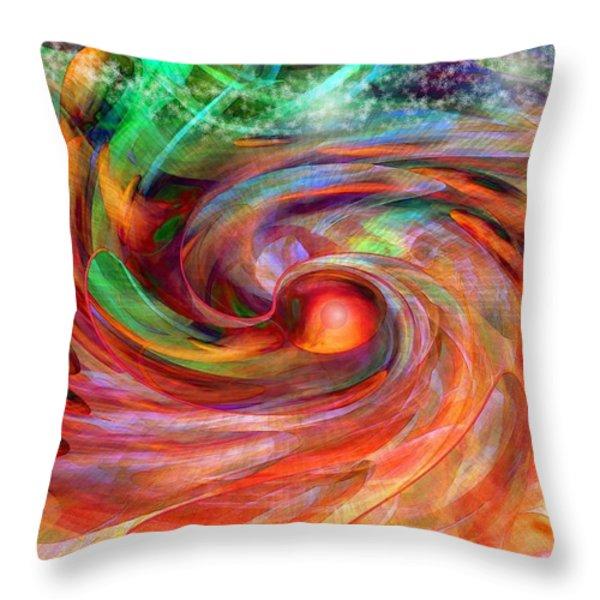 Magical Energy Throw Pillow by Linda Sannuti