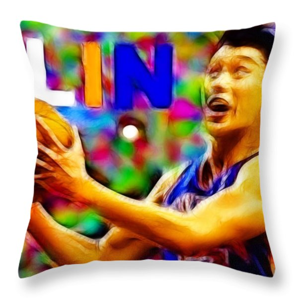 Magical Jeremy Lin Throw Pillow by Paul Van Scott