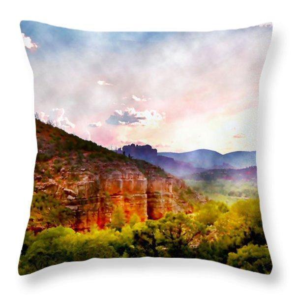 Magical Sedona Throw Pillow by Ellen Heaverlo
