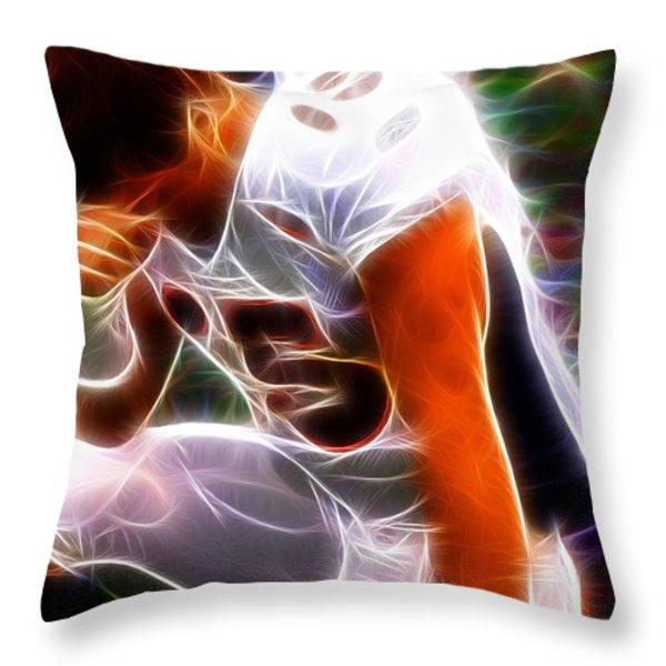 Magical Tebowing Throw Pillow by Paul Van Scott
