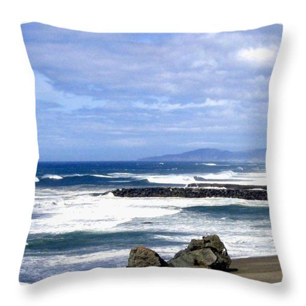 Magnificent Sea Throw Pillow by Will Borden