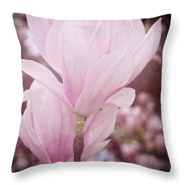 Magnolia Throw Pillow by Angela Doelling AD DESIGN Photo and PhotoArt