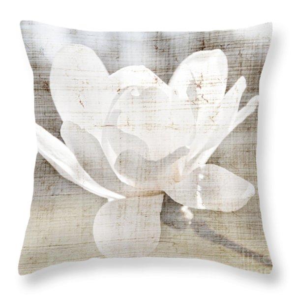 Magnolia flower Throw Pillow by Elena Elisseeva