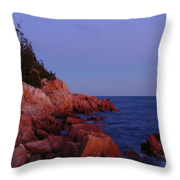 Maine Acadia Np Throw Pillow by Juergen Roth