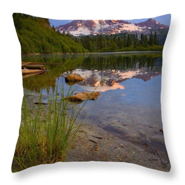 Majestic Glow Throw Pillow by Mike  Dawson