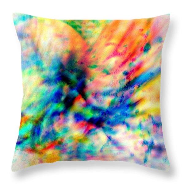 Make A Joyful Noise Throw Pillow by WBK