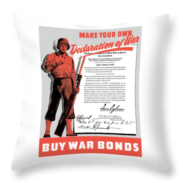 Make Your Own Declaration Of War Throw Pillow by War Is Hell Store