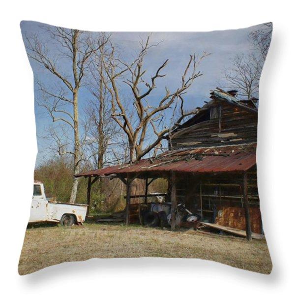 Makes Me Wanna Take A Back Road Throw Pillow by Benanne Stiens