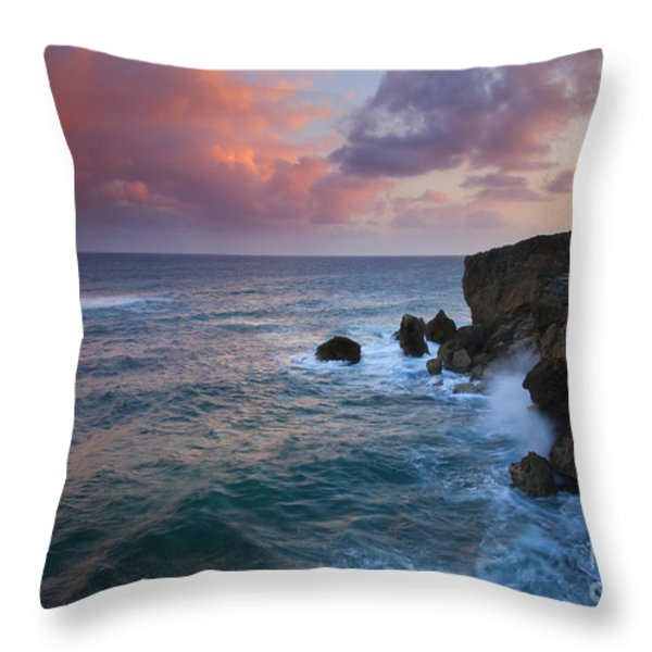 Makewehi Sunset Throw Pillow by Mike  Dawson