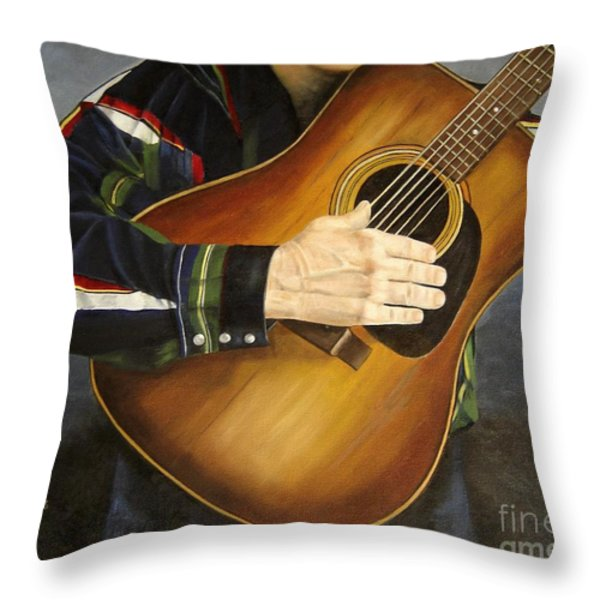 Making Music Throw Pillow by Mary Rogers