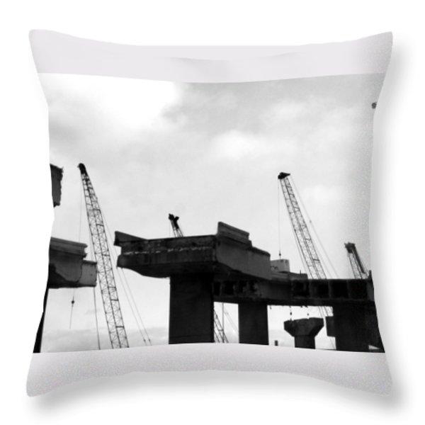 Making Way Throw Pillow by Jamie Lynn