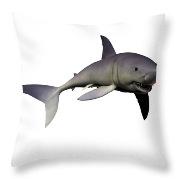Mako Shark Throw Pillow by Corey Ford