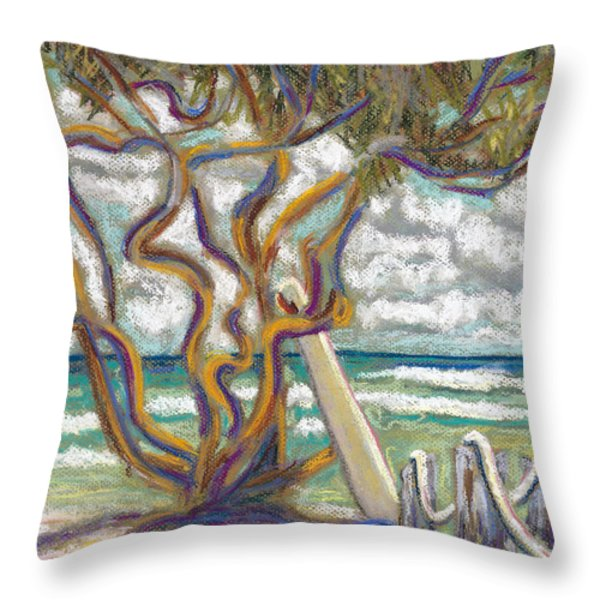 Malaekahana Tree Throw Pillow by Patti Bruce - Printscapes