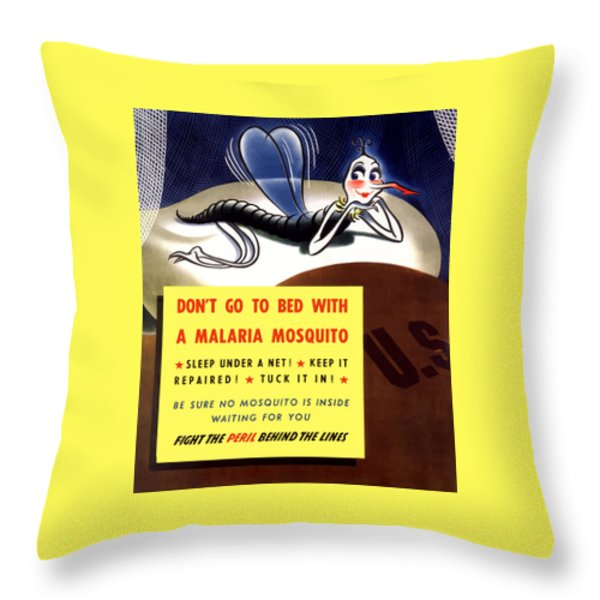 Malaria Mosquito Throw Pillow by War Is Hell Store
