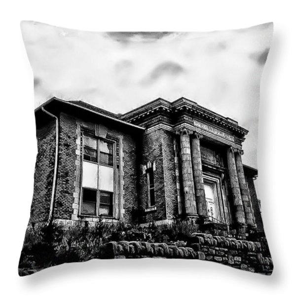 Manayunk Branch of the Free Library of Philadelphia Throw Pillow by Bill Cannon