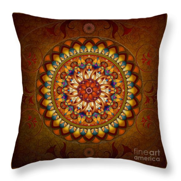 Mandala Ararat Throw Pillow by Bedros Awak