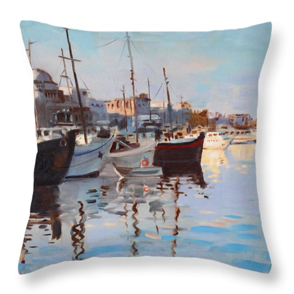 Mandraqi Rhodes Greece Throw Pillow by Ylli Haruni