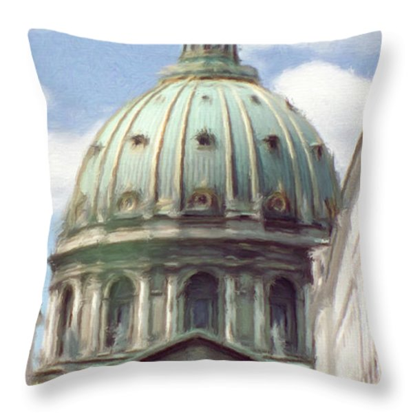 Marble Church Throw Pillow by Jeff Kolker