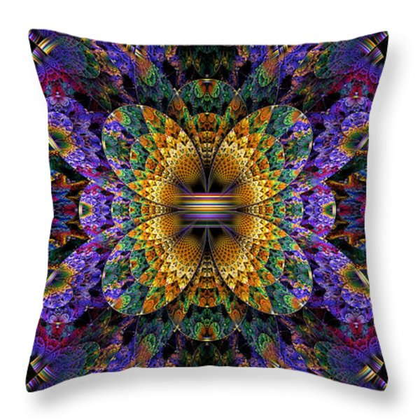 Mardi Gras Split Crop Throw Pillow by Peggi Wolfe