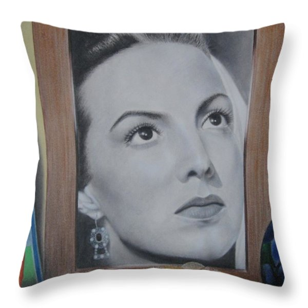 Maria Bonita Throw Pillow by Lynet McDonald