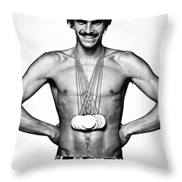 Mark Spitz (1950- ) Throw Pillow by Granger