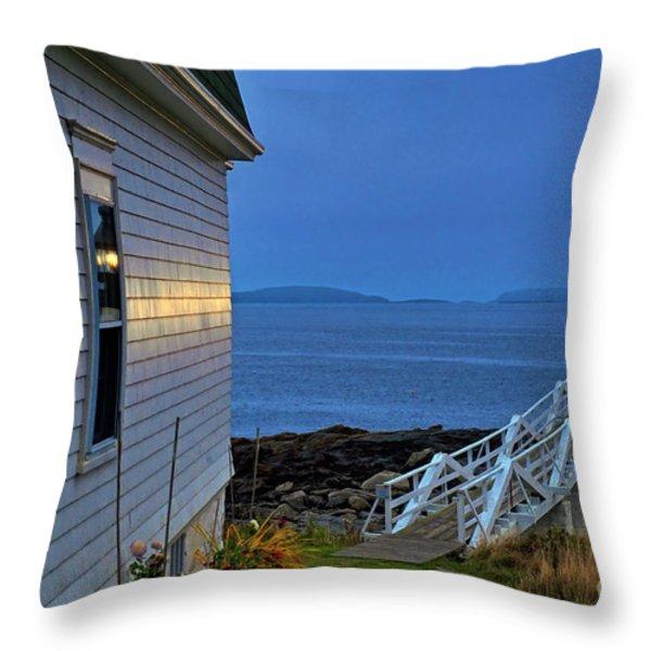 Marshall Point Lighthouse Throw Pillow by John Greim