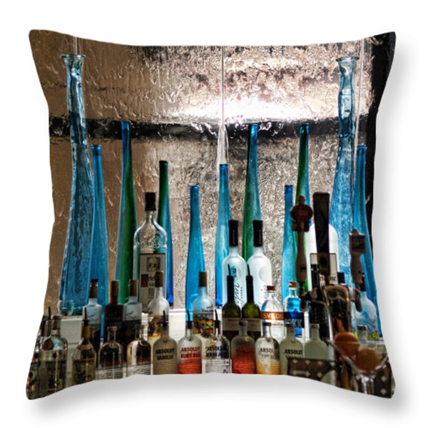 Martini Throw Pillow by Athala Carole Bruckner