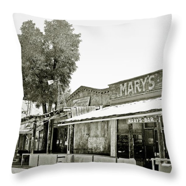 Mary's Bar Cerrillo NM Throw Pillow by Christine Till