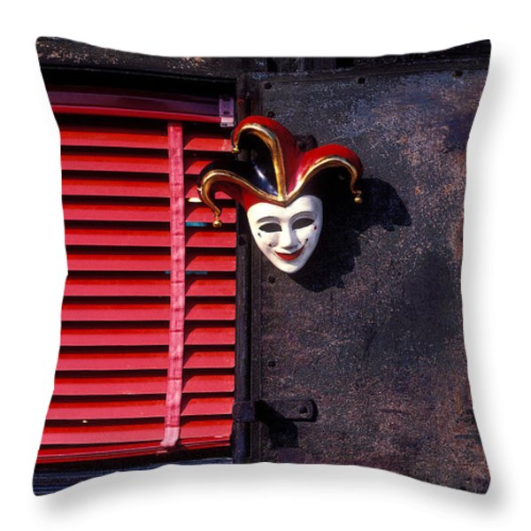 Mask by window Throw Pillow by Garry Gay