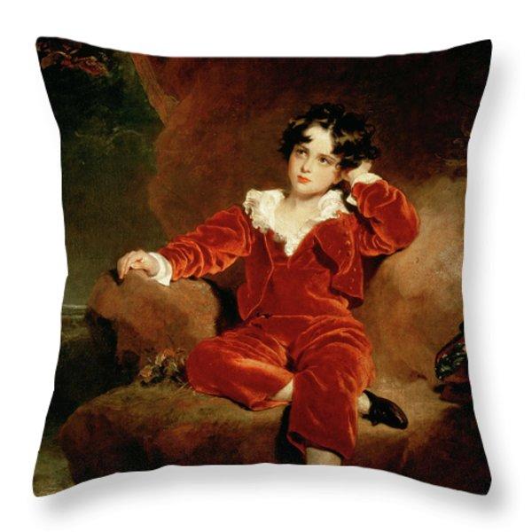 Master Charles William Lambton Throw Pillow by Sir Thomas Lawrence