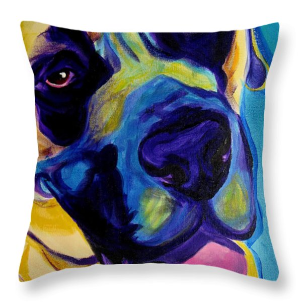 Mastiff - Lazy Sunday Throw Pillow by Alicia VanNoy Call