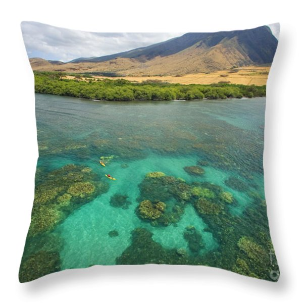 Maui Landscape Throw Pillow by Ron Dahlquist - Printscapes