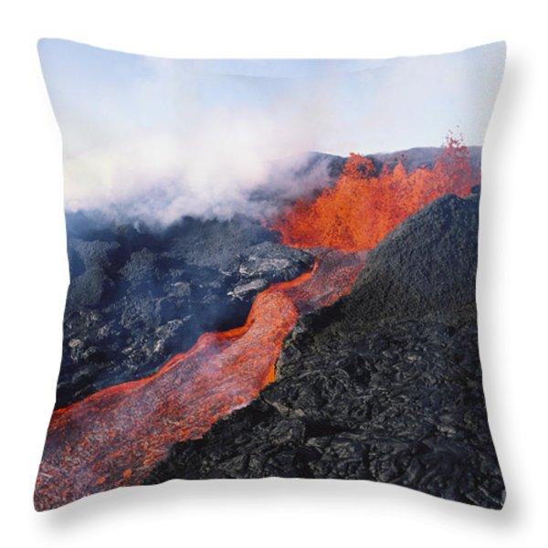 Mauna Loa Eruption Throw Pillow by Joe Carini - Printscapes