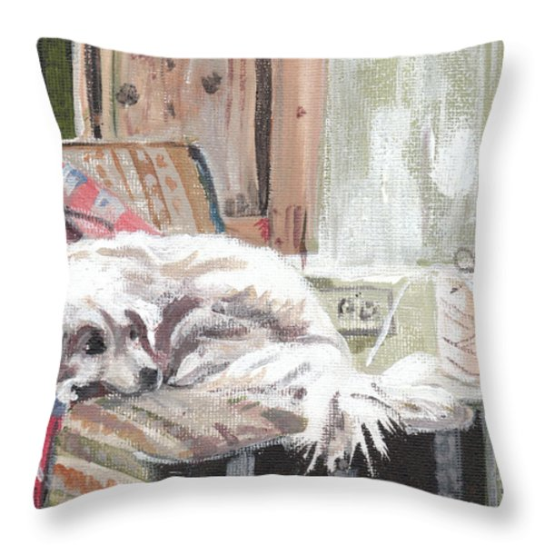 Maybelline Throw Pillow by Sarah Lynch