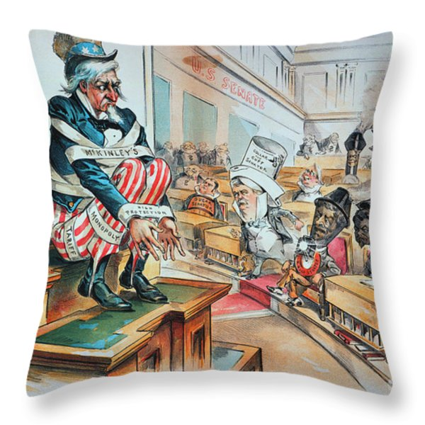 Mckinley Tariff Act, 1894 Throw Pillow by Granger