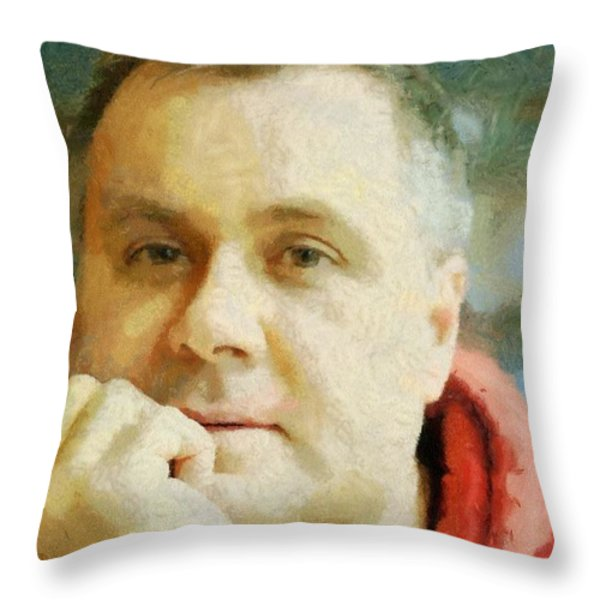 Me Throw Pillow by Jeff Kolker