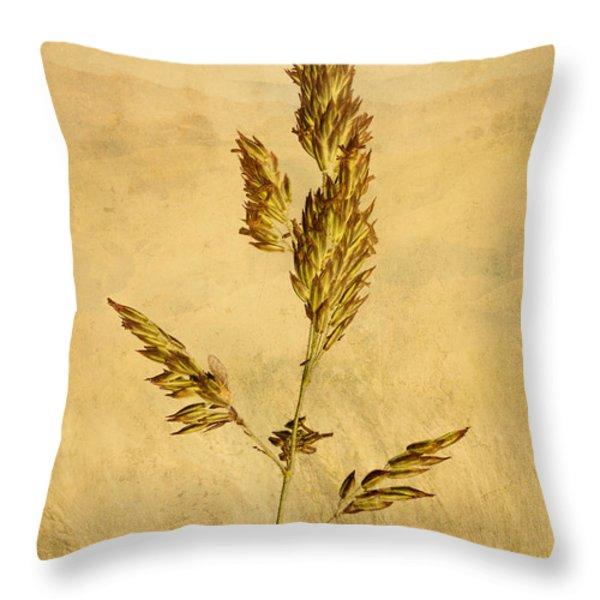 Meadow Grass Throw Pillow by John Edwards