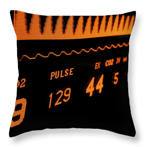 Medical Monitor Displaying Respiratory Throw Pillow by Greg Dale