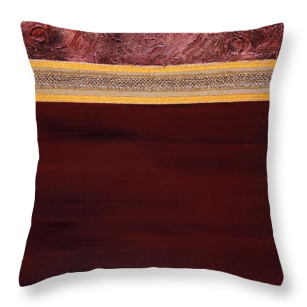 Meditation A Collage In Mixed Media Throw Pillow by Phil Albone