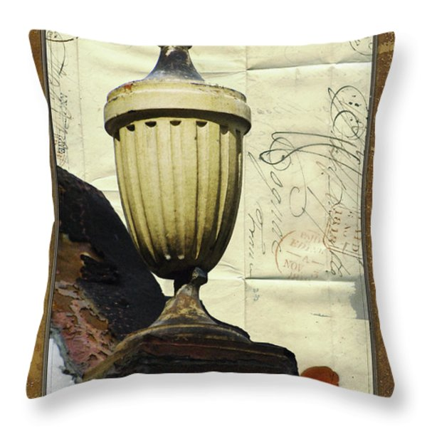 Mediterranean Urn Throw Pillow by AdSpice Studios