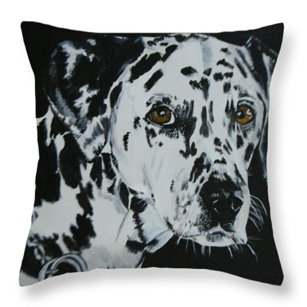 Meet Annie Throw Pillow by Betty-Anne McDonald