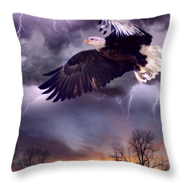Meeting The Storm Throw Pillow by Bill Stephens