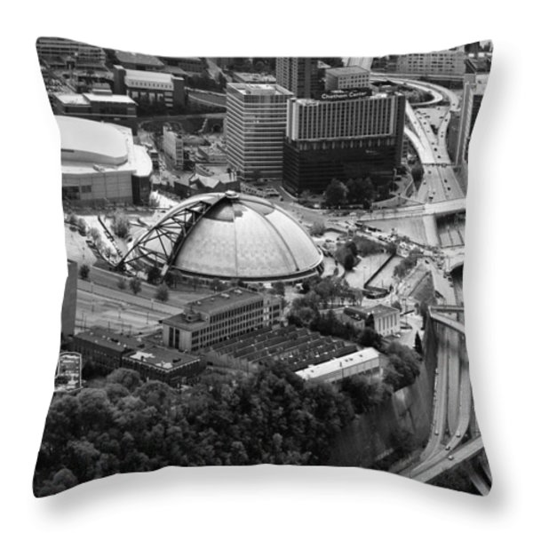 Mellon arena  Throw Pillow by Emmanuel Panagiotakis
