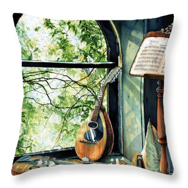 Memories And Music Throw Pillow by Hanne Lore Koehler